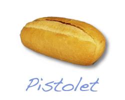 Broodje warme ham pindasaus (apart) - pistolet